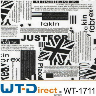 Sticker Black and White WT-1711 in 50 cm Breite