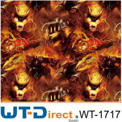 Wolf mit Flammen WT-1717H in 50 cm Breite