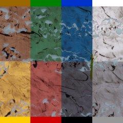 Marmor Design in Blau H-017-6