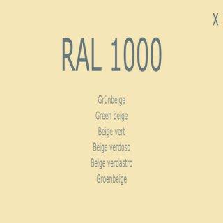 1-K Base Coat RAL 1000 Grünbeige