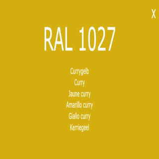 1-component base coat RAL 1027 curry yellow