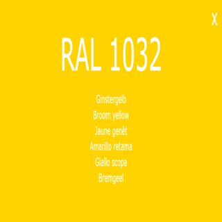 1-component base coat RAL 1032 gister yellow