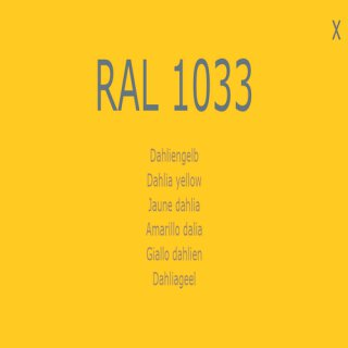 1-K Base Coat RAL 1033 Dahliengelb
