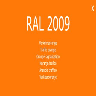 1-K Base Coat RAL 2009 Verkehrsorange
