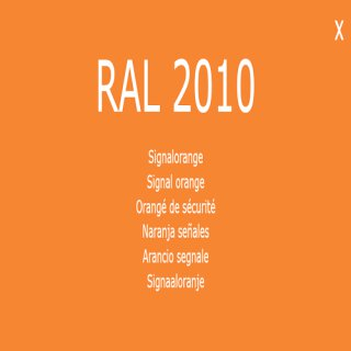 1-K Base Coat RAL 2010 Signalorange