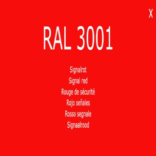 1-K Base Coat RAL 3001 Signalrot