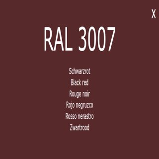 1-K Base Coat RAL 3007 Schwarzrot