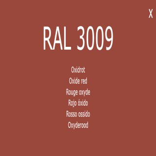 1-component base coat RAL 3009 oxide red