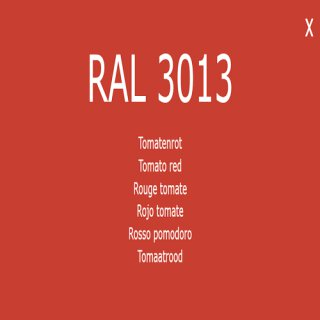 1-component base coat RAL 3013 tomato red