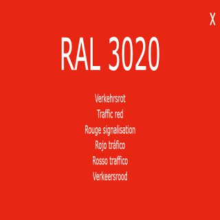 1-component base coat RAL 3020 traffic red