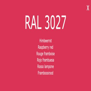 1-K Base Coat RAL 3027 Himbeerrot