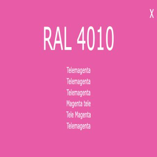 1-K Base Coat RAL 4010 Telemagenta