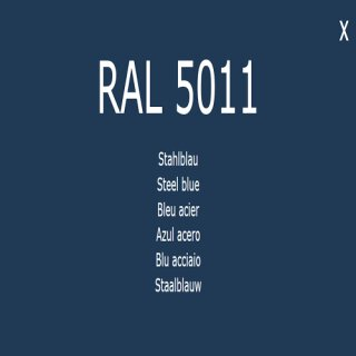 1-component base coat RAL 5011 pale blue