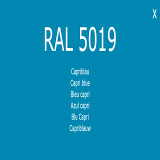 1-K Base Coat RAL 5019 Capriblau