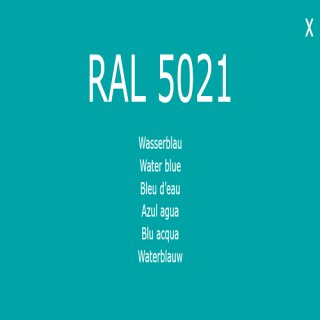 1-K Base Coat RAL 5021 Wasserblau