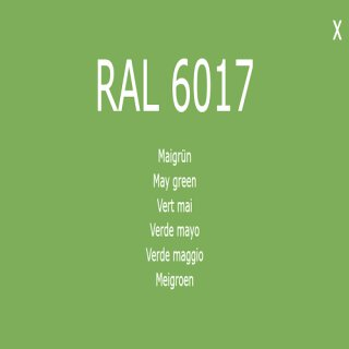 1-component base coat RAL 6017 May green