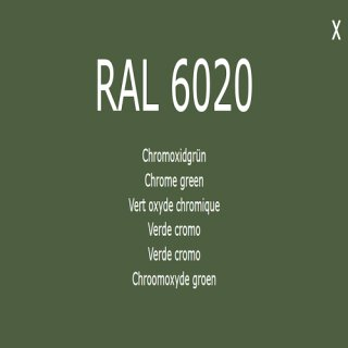 1-component base coat RAL 6020 chrome oxide green