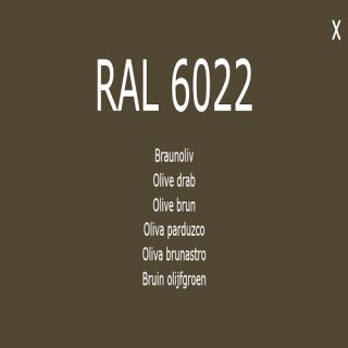 1-K Base Coat RAL 6022 Braunolive