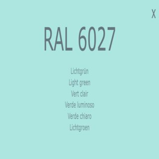 1-K Base Coat RAL 6027 Lichtgrün