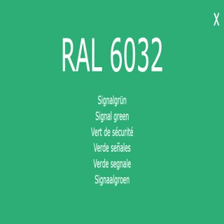 1-K Base Coat RAL 6032 Signalgrün