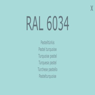1-K Base Coat RAL 6034 Pastelltürkis