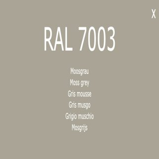 1-component base coat RAL 7003 moss gray