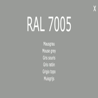 1-component base coat RAL 7005 mouse gray