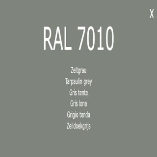 1-component base coat RAL 7010 tent gray
