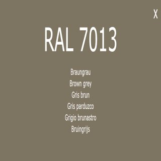 1-K Base Coat RAL 7013 Braungrau