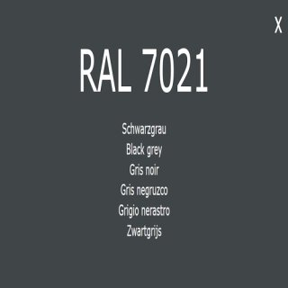 1-component base coat RAL 7021 black gray