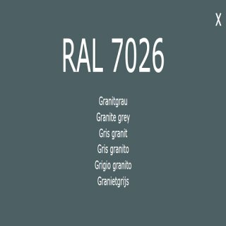 1-K Base Coat RAL 7026 Granitgrau