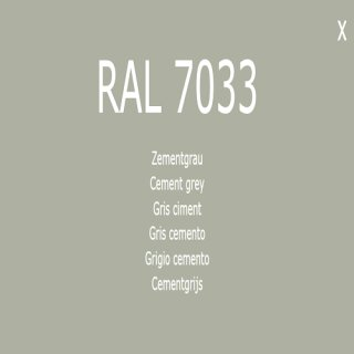 1-component base coat RAL 7033 cement gray