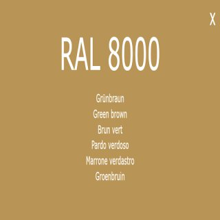 1-component base coat RAL 8000 green-brown
