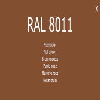 1-K Base Coat RAL 8011 Nussbraun