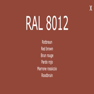 1-K Base Coat RAL 8012 Rotbraun