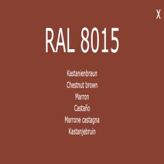 1-K Base Coat RAL 8015 Kastanienbraun 1 Liter