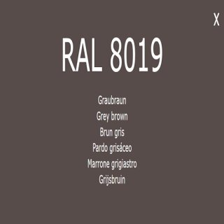1-component base coat RAL 8019 gray-brown