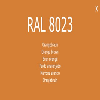1-K Base Coat RAL 8023 Orangenbraun