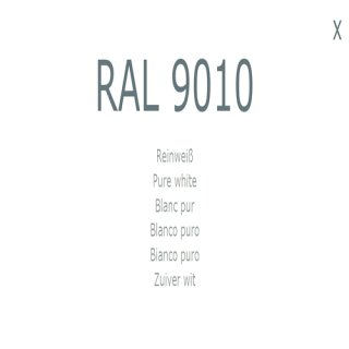 1-K Base Coat RAL 9010 Reinweiß