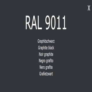1-K Base Coat RAL 9011 Graphitschwarz