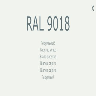 1-K Base Coat RAL 9018 Papyrusweiß