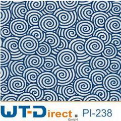 Spiralen Blau PI-238 in 50 cm Breite
