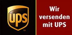 Wir versenden mit UPS